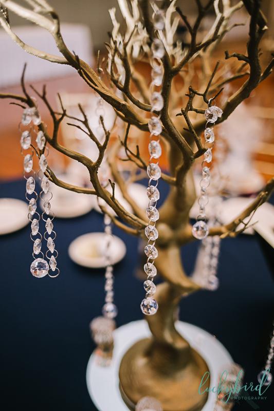 chicago wedding reception centerpiece
