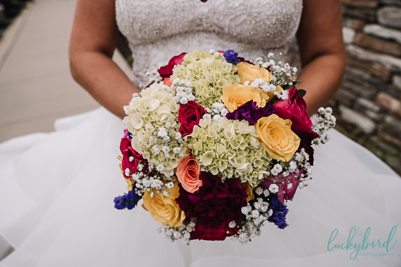 colorful flowers at chicago wedding