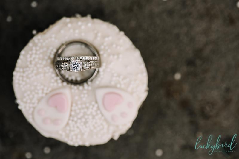 wedding ring in cupcake