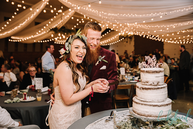 cake cutting at the stables