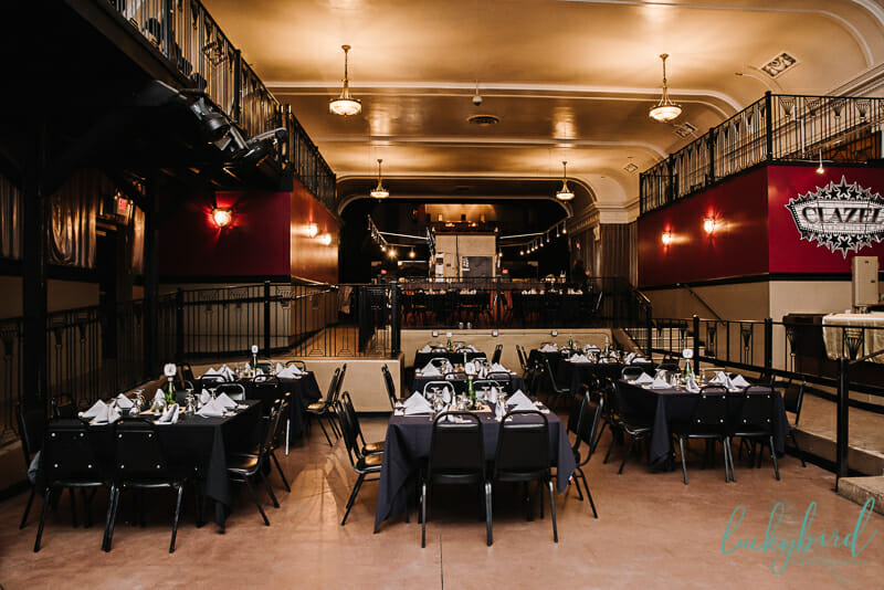 clazel theater wedding reception