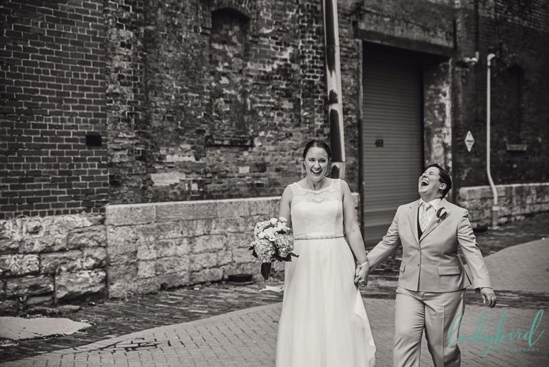 columbus alleyway wedding photos