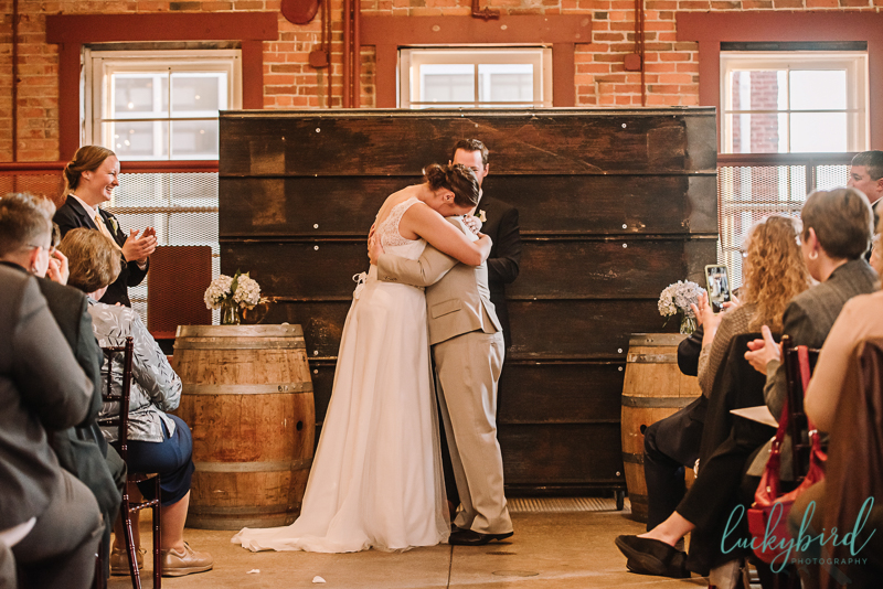 first hug after married at via vecchia