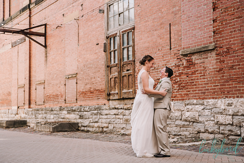first look lgbtq couple in columbus