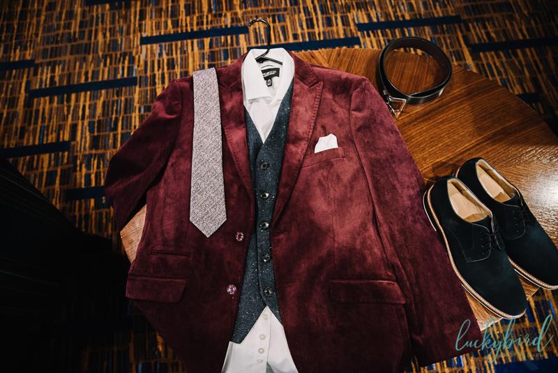 grooms velvet suit