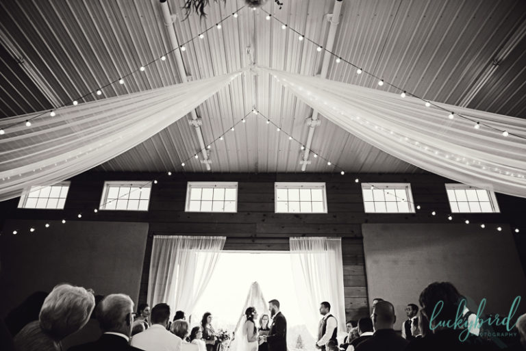 indoor ceremony photos at the stables