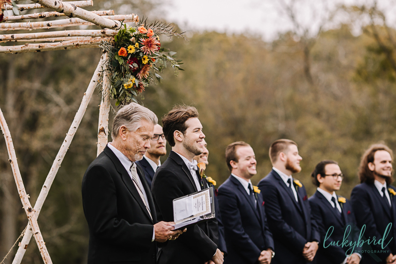 nazareth hall groom seeing bride ladyglen lawn ceremony