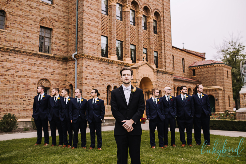 nazareth hall groomsmen photo