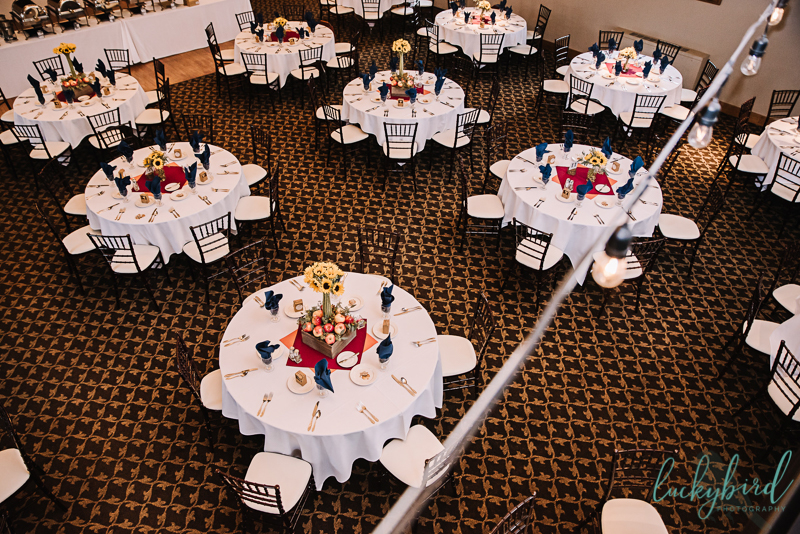 Nazareth Hall ladyglen wedding reception