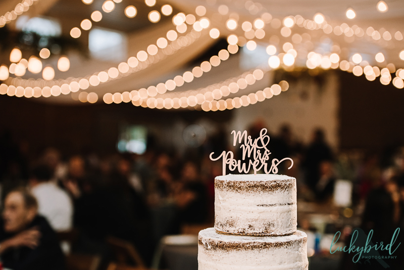the stables wedding cake photo