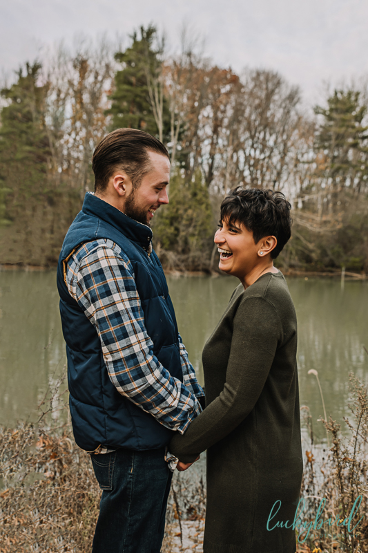 engagement photos at pearson park