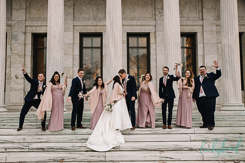 wedding party at toledo museum of art