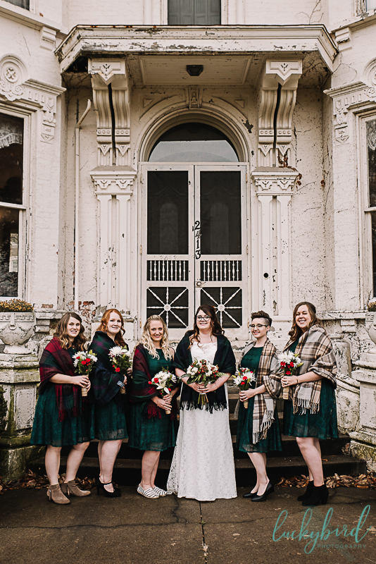 bridesmaids at collingwood arts center