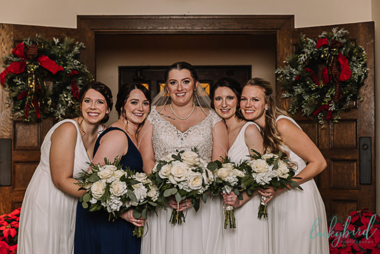 bridesmaids for winter nazareth hall wedding