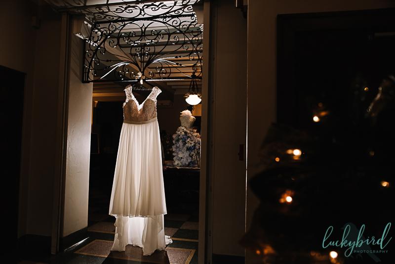 dress hanging at nazareth hall