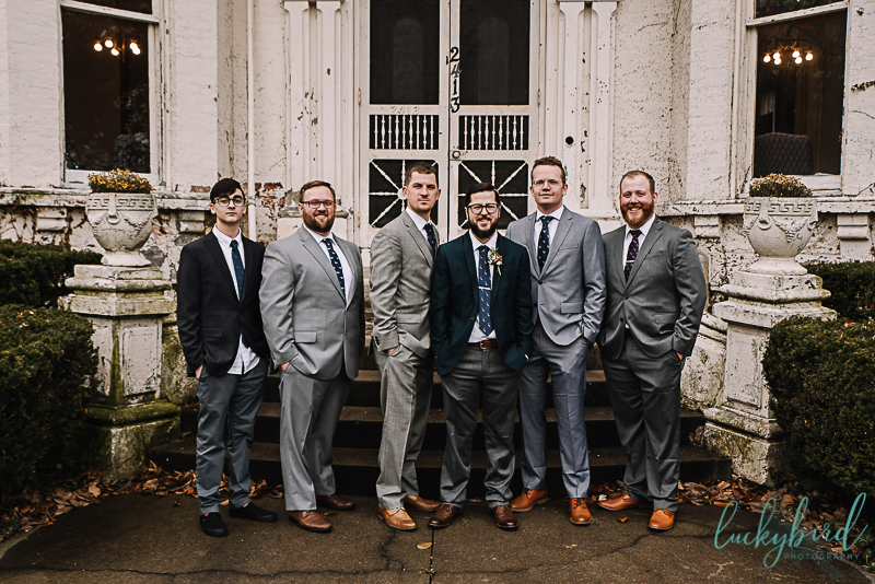 groomsmen at collingwood arts center