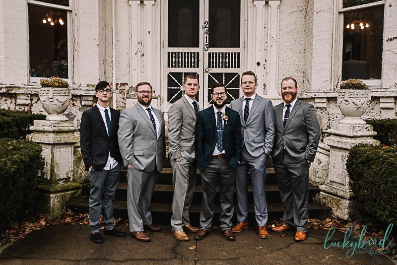 groomsmen at collingwood arts center