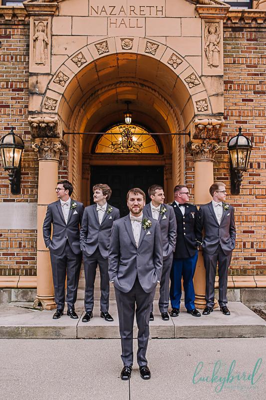 groomsmen getting ready nazareth hall