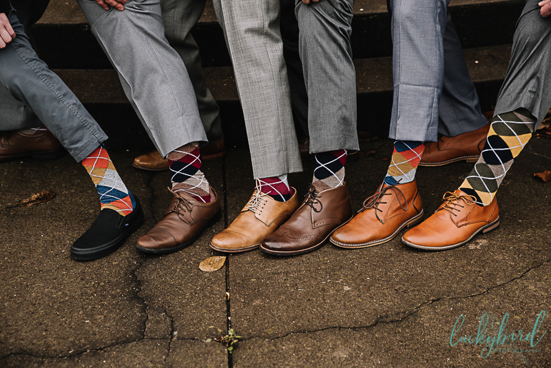 groomsmen socks at collingwood arts center