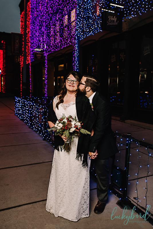 hensville lights wedding photo