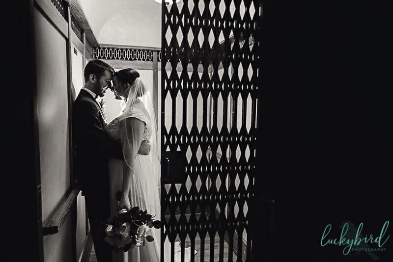 nazareth hall wedding photo in elevator