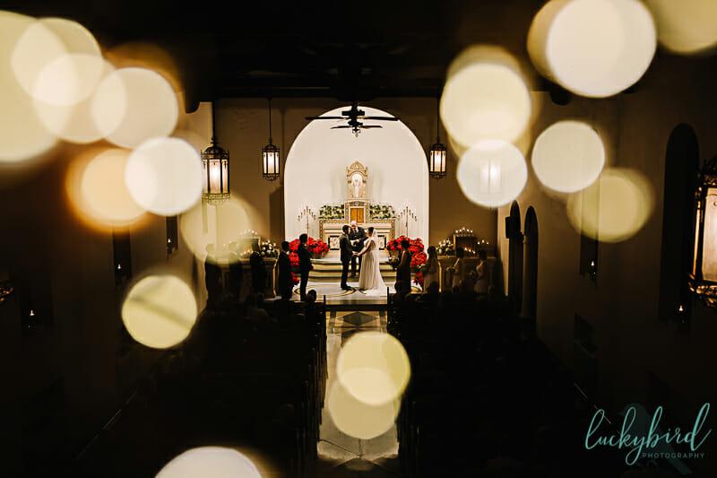winter nazareth hall chapel wedding