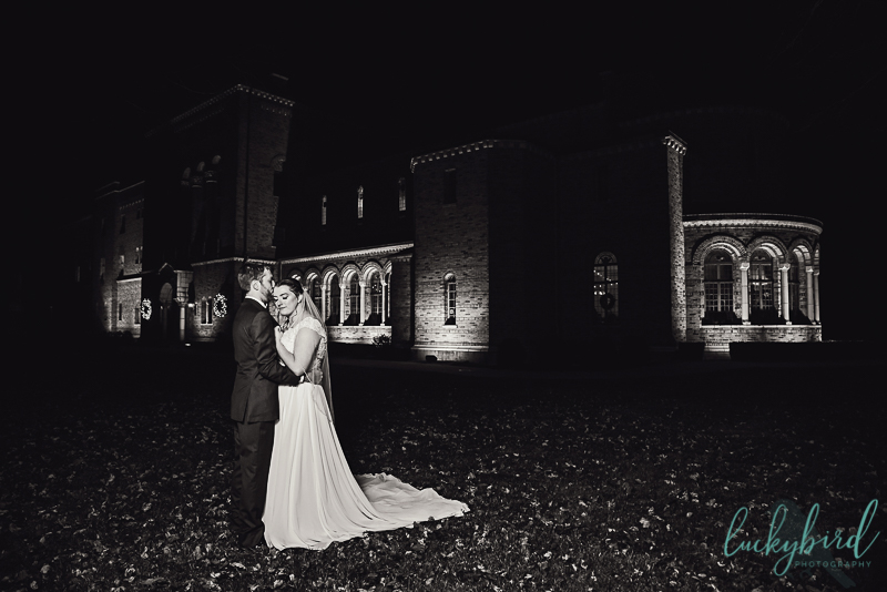 winter wedding at nazareth hall