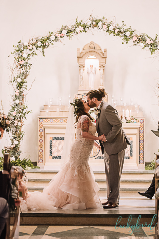 first kiss at the nazareth hall chapel in ohio