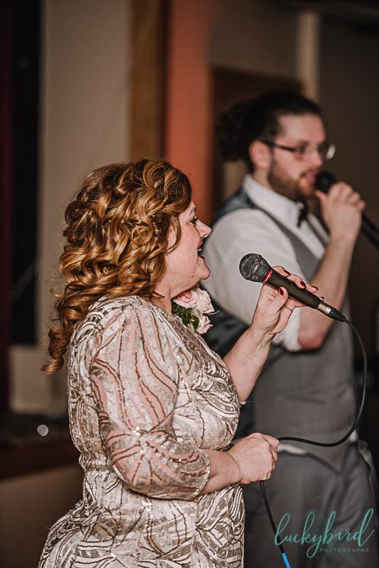 groom and mom karaoke first dance