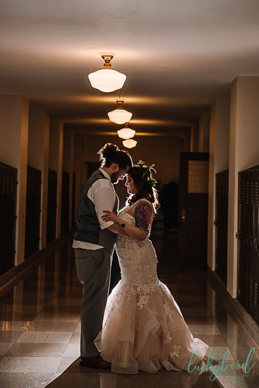 nazareth hall dramatic wedding photo