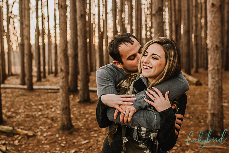 cute engagement photos in toledo
