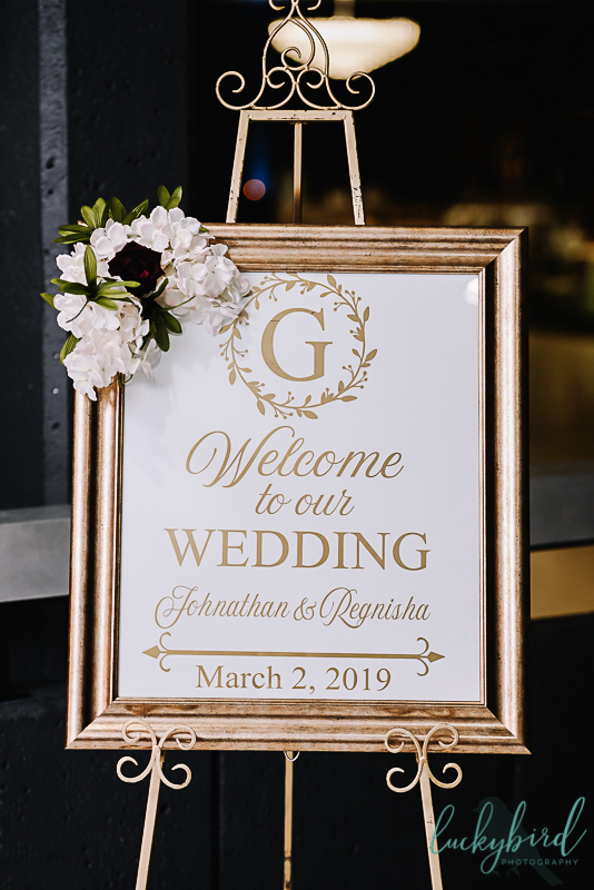 stranahan wedding sign