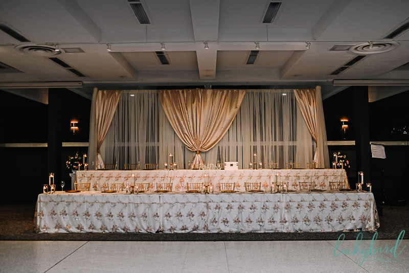 wedding party table during stranahan toledo reception