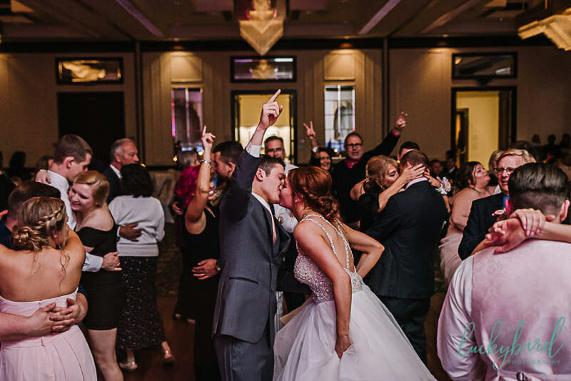 dancing photo during park inn toledo wedding reception