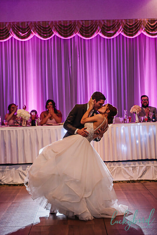 first dance at the park inn wedding reception