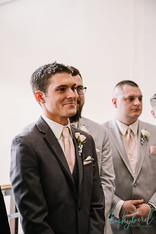 groom seeing bride at park inn wedding ceremony