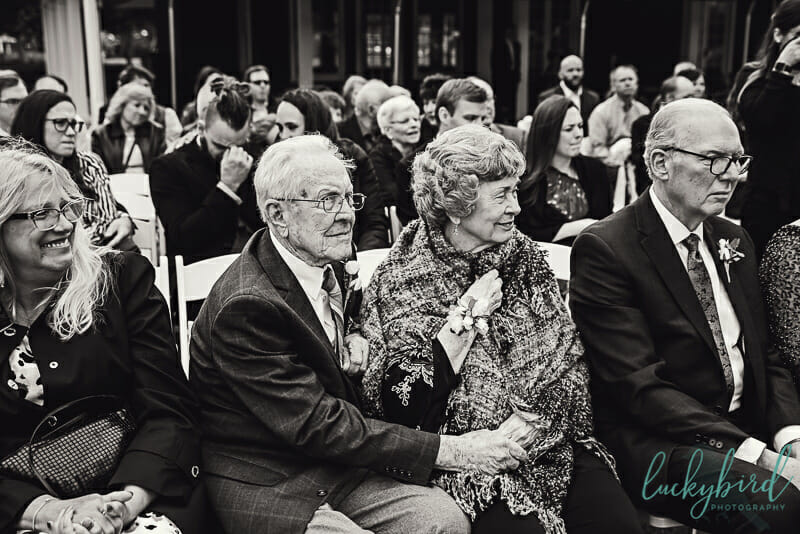 grooms grandparents during toledo wedding ceremony
