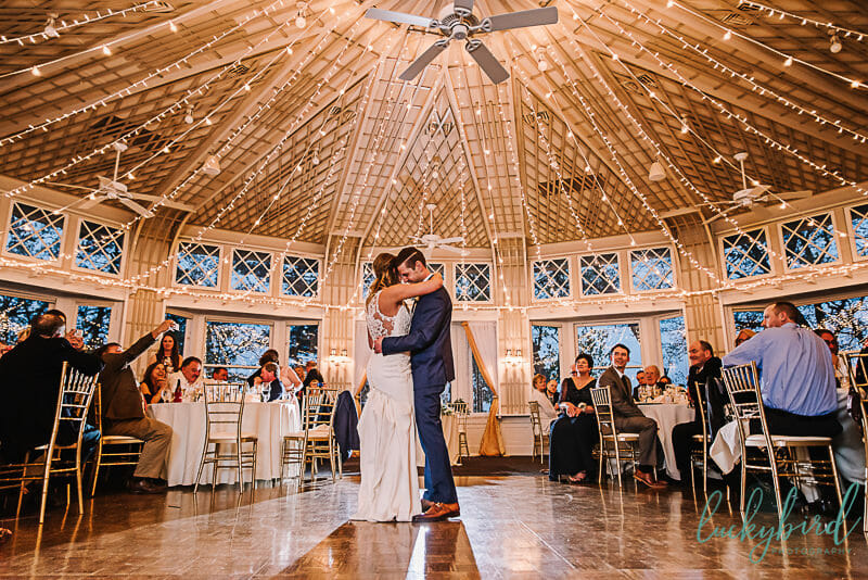 indoor first dance photo at toledo country club