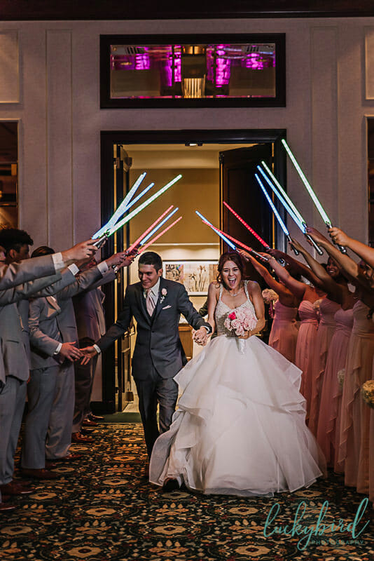 lightsaber may the fourth wedding photo