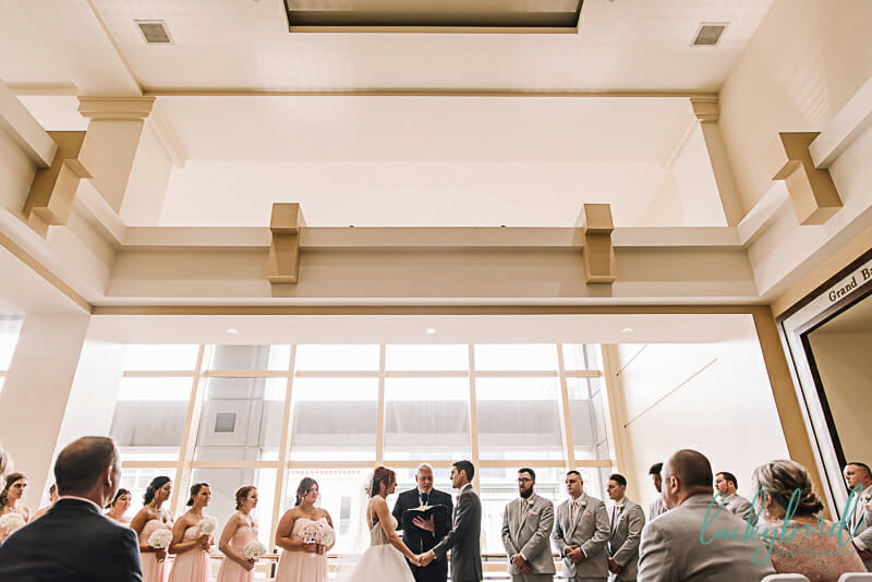 park inn indoor toledo wedding ceremony