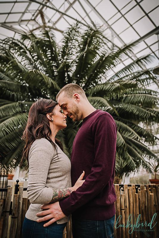romantic toledo garden engagement photos