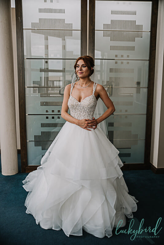 toledo bride in maggie sottero dress