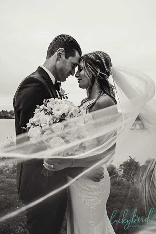 veil photo at toledo country club wedding