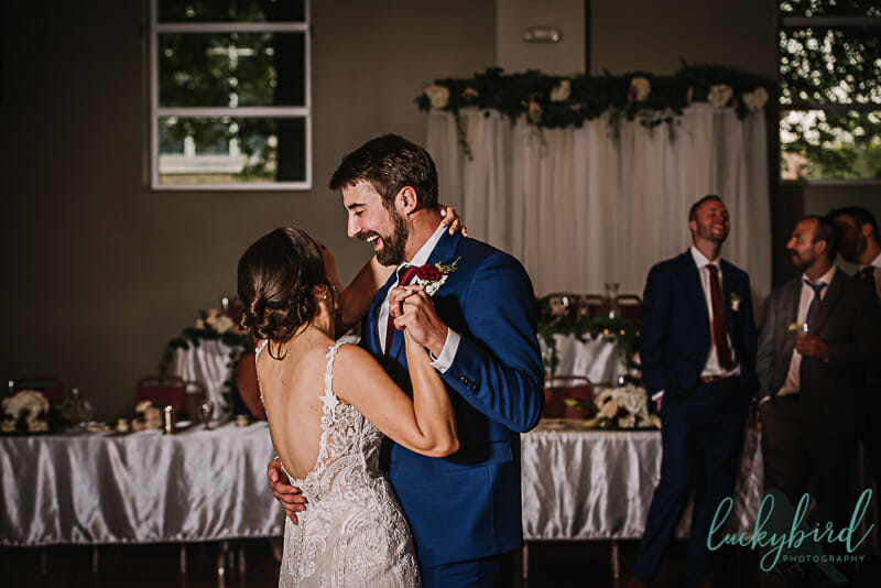 bride and groom first dance in toledo ohio