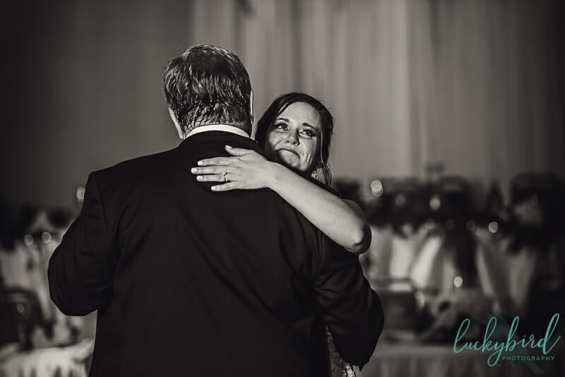 bride and her dad dancing for father daughter dance