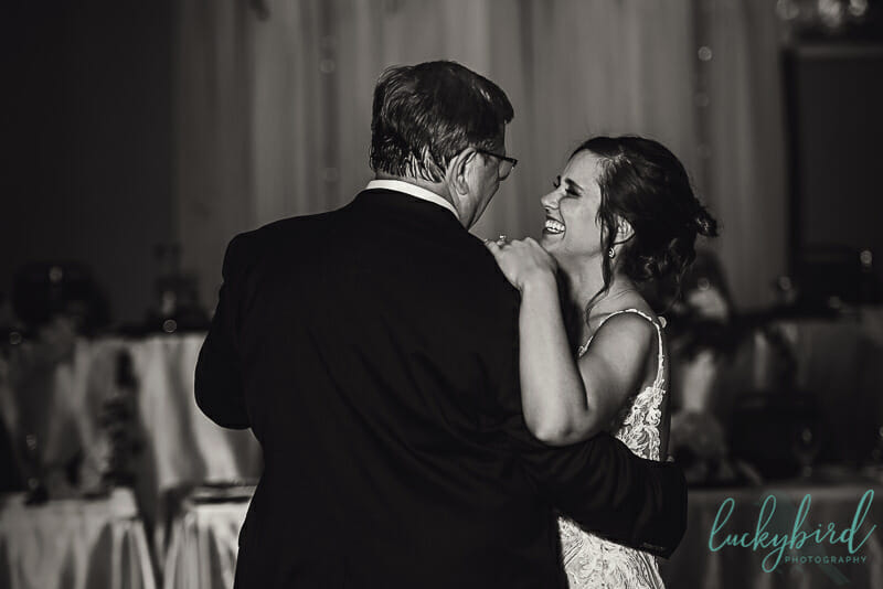 bride dancing with her father in toledo