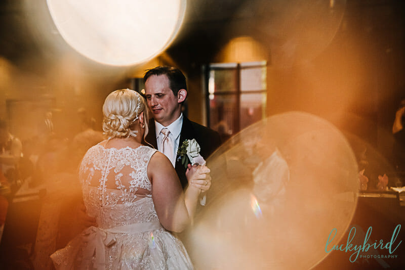 first dance at the pinnacle maumee with lights