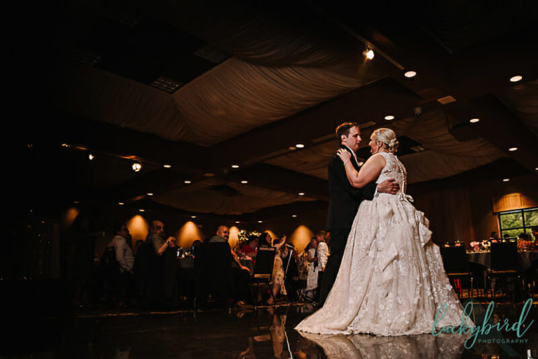 first dance in the pinnacle ballroom