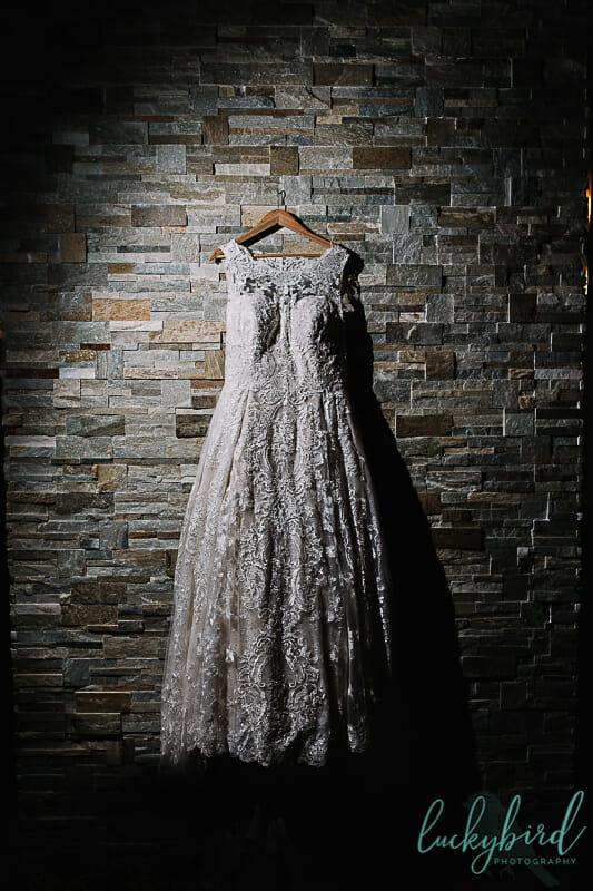 wedding dress hanging in maumee ohio