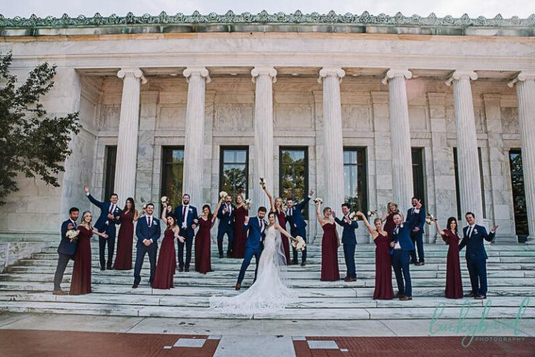 wedding party at toledo museum of art